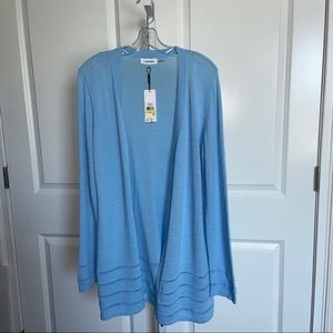 Calvin Klein Light Blue Sweater Duster Cardigan